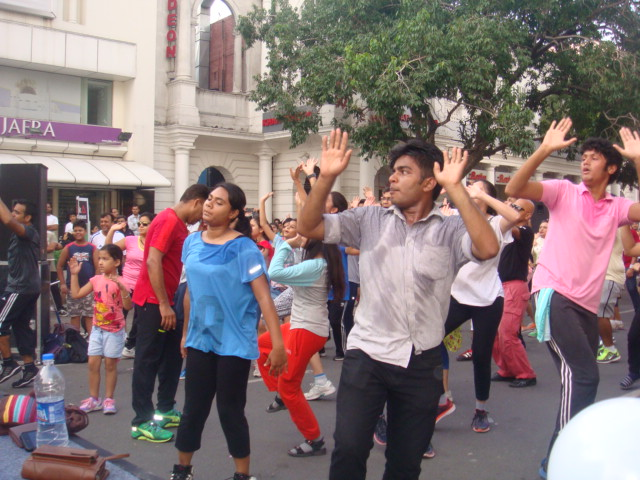 Zumba Dancing at Raahgiri Day