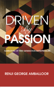 Driven by passion Book by Ranji George Amballoor
