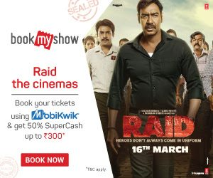 Book your tickets for the Crime Drama Movie – Raid